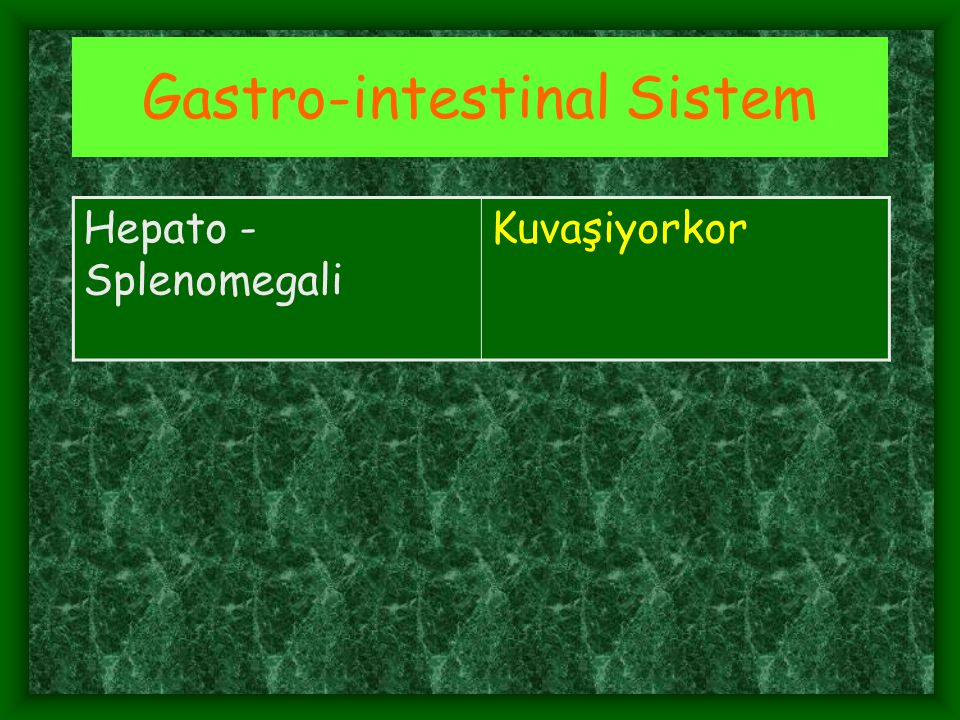 Gastro-intestinal Sistem