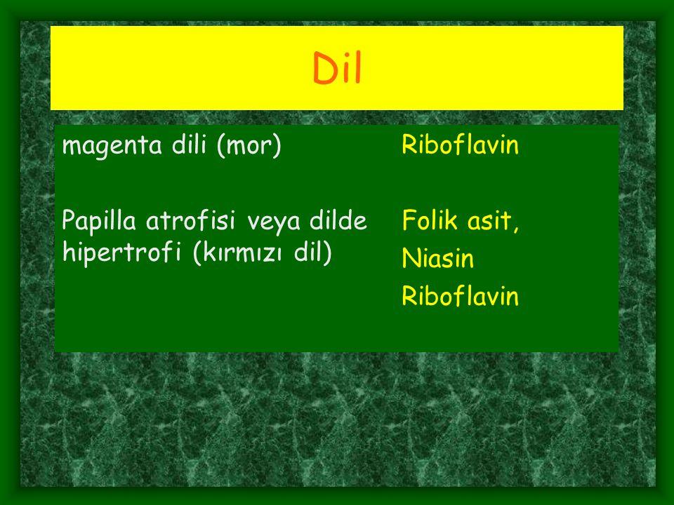 Dil magenta dili (mor) Riboflavin