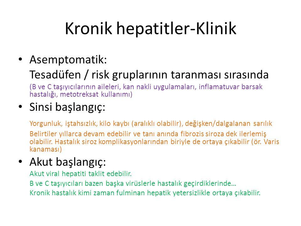 Kronik hepatitler-Klinik