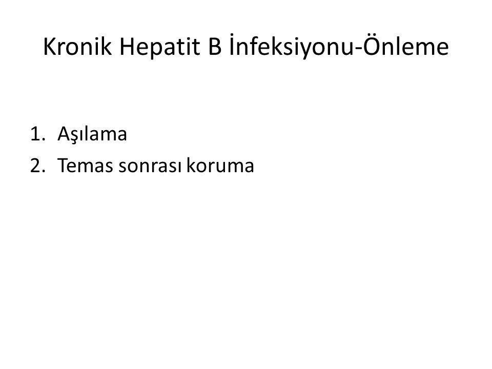Kronik Hepatit B İnfeksiyonu-Önleme