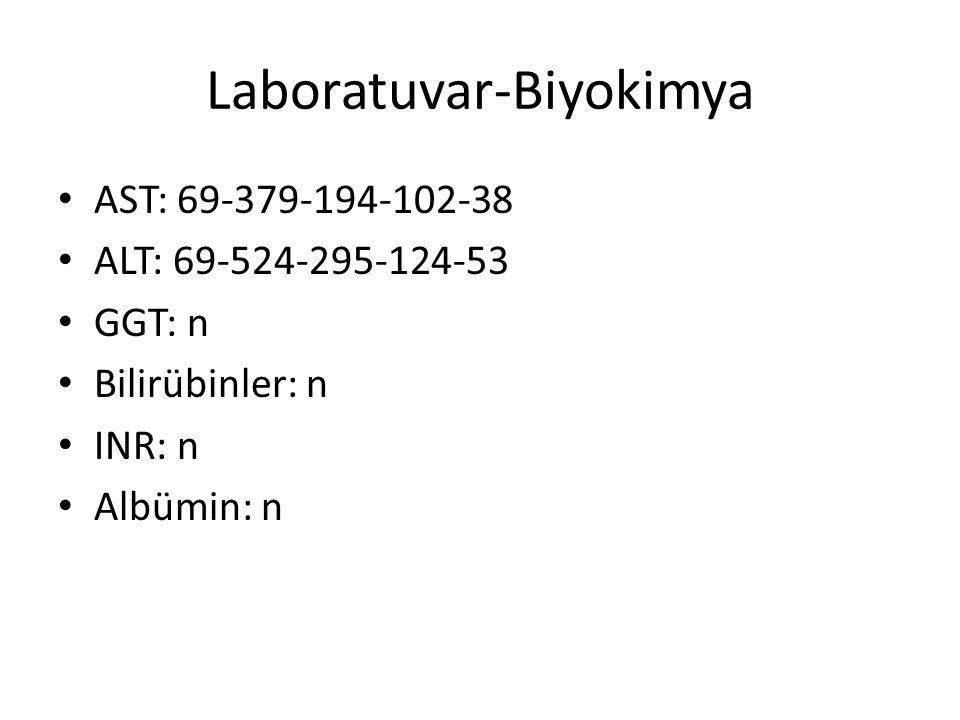 Laboratuvar-Biyokimya