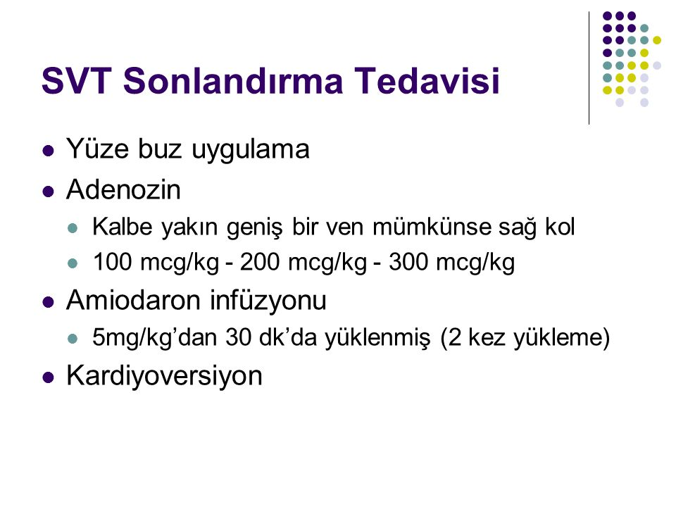 SVT Sonlandırma Tedavisi