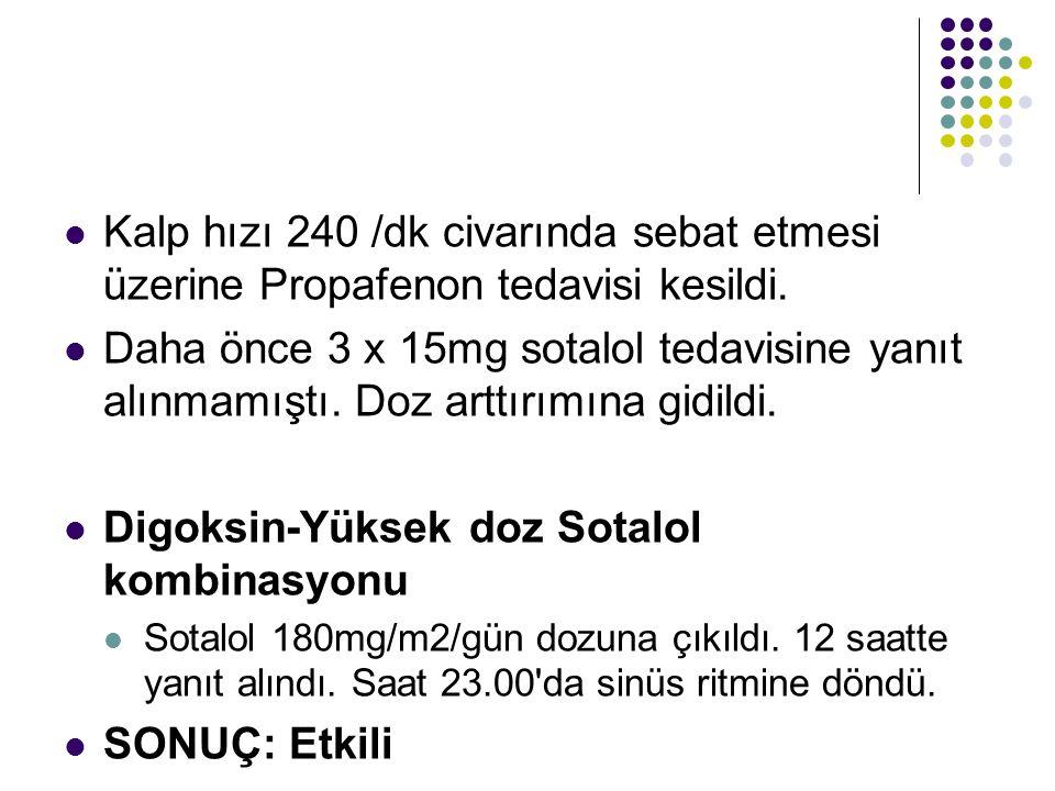 Digoksin-Yüksek doz Sotalol kombinasyonu