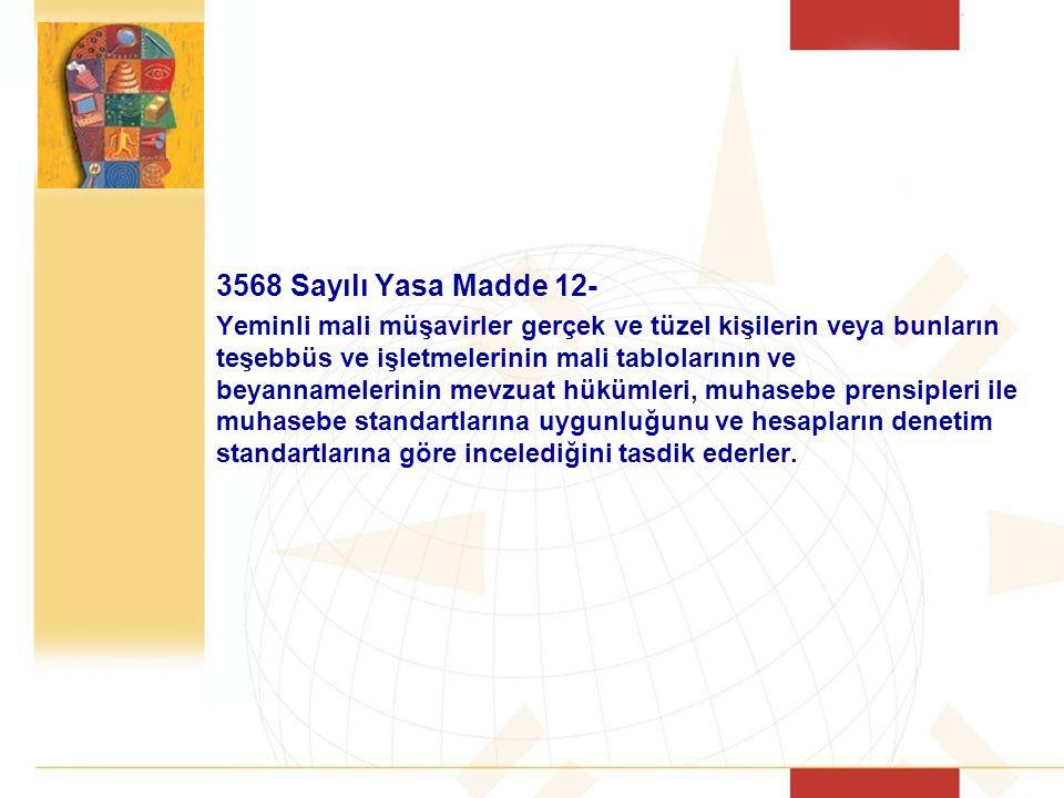 3568 Sayılı Yasa Madde 12-