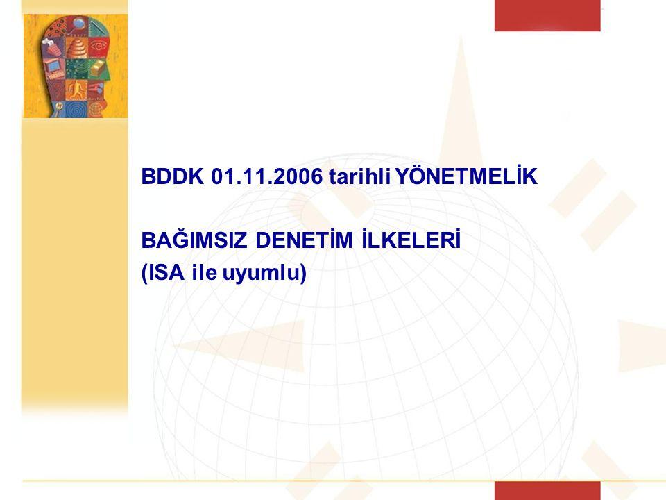 BDDK 01.11.2006 tarihli YÖNETMELİK