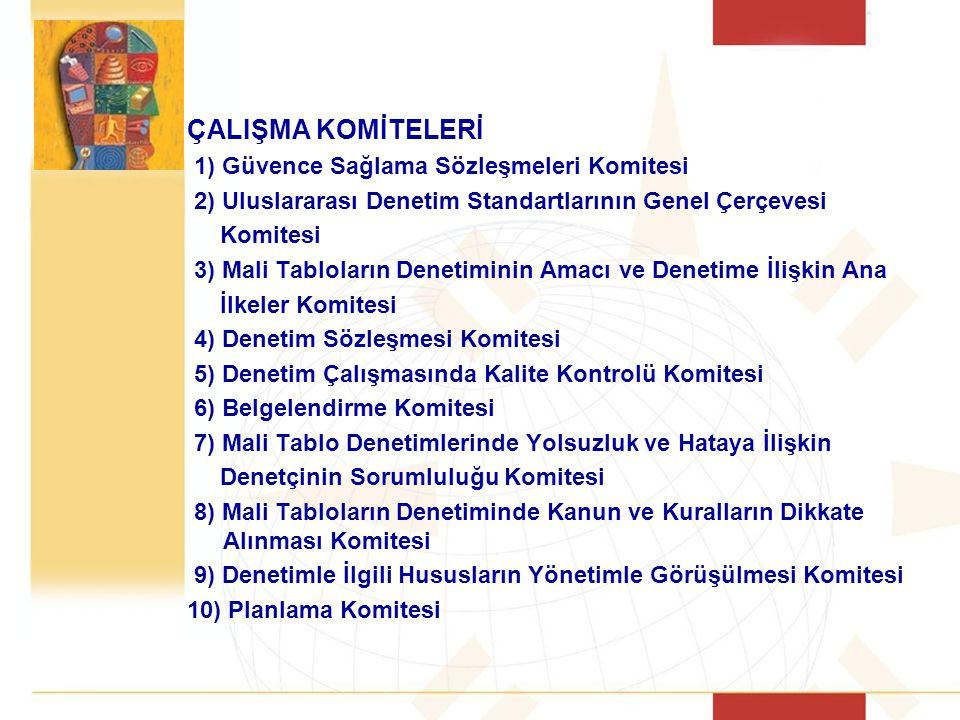 ÇALIŞMA KOMİTELERİ 1) Güvence Sağlama Sözleşmeleri Komitesi