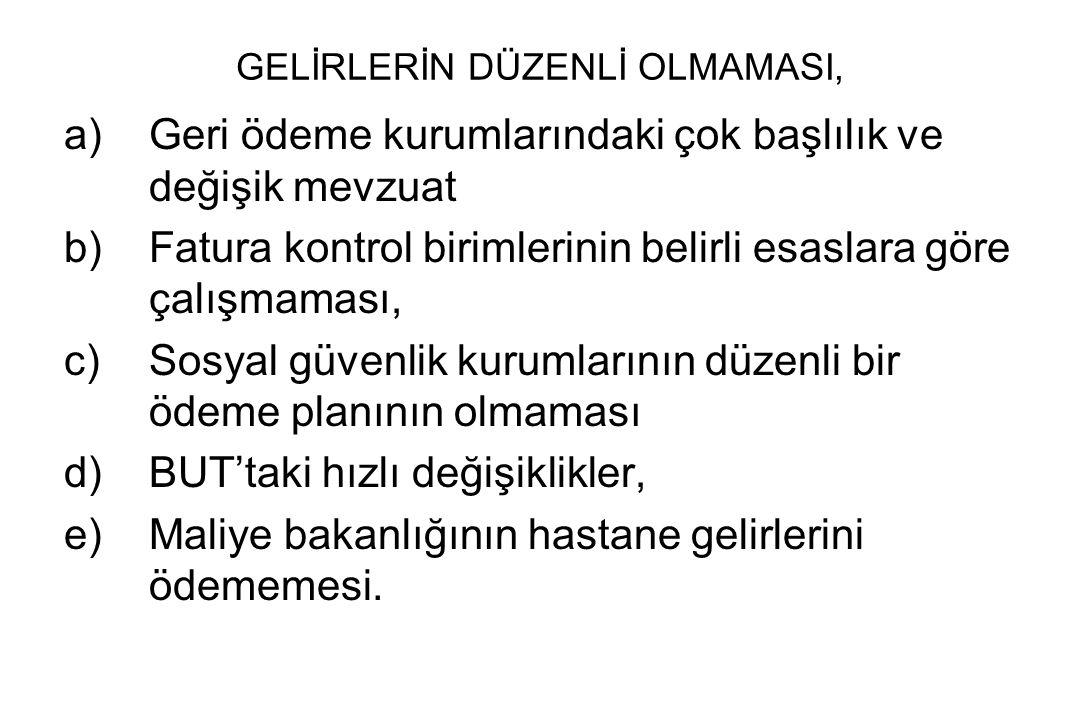 GELİRLERİN DÜZENLİ OLMAMASI,