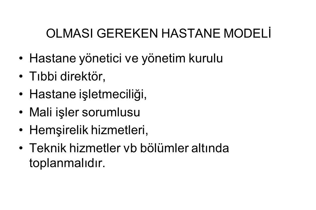 OLMASI GEREKEN HASTANE MODELİ