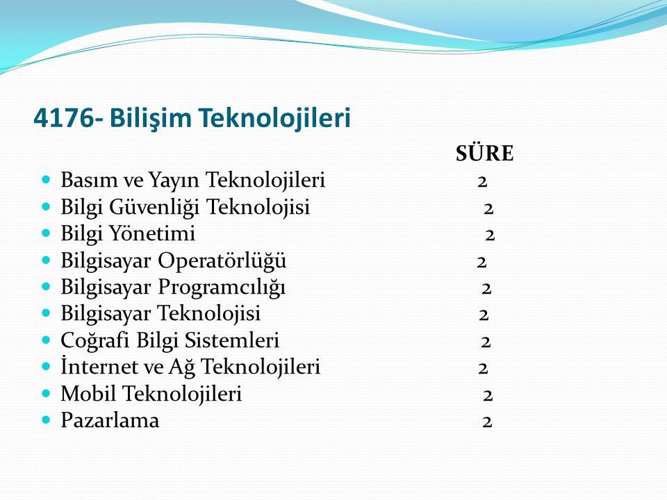 4176- Bilişim Teknolojileri