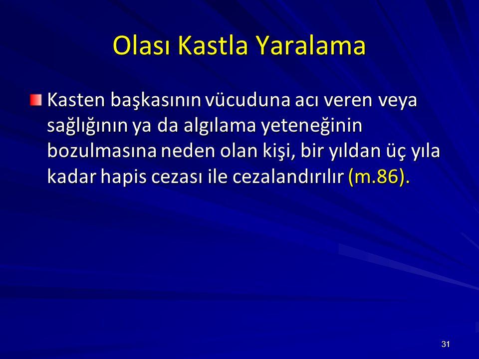 Olası Kastla Yaralama