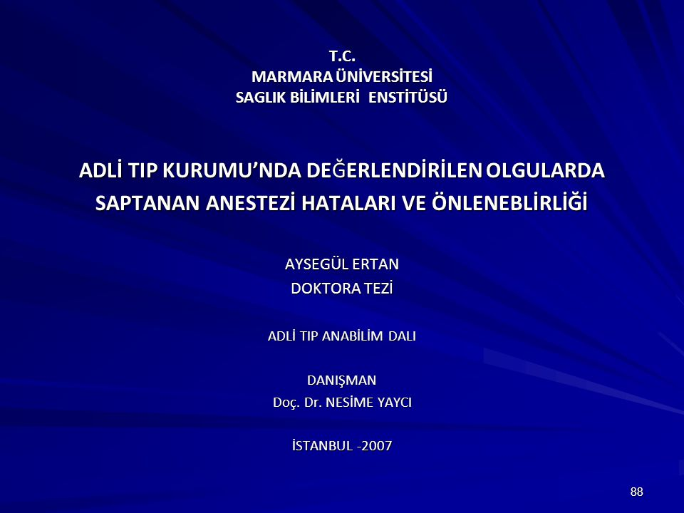 T.C. MARMARA ÜNİVERSİTESİ SAGLIK BİLİMLERİ ENSTİTÜSÜ