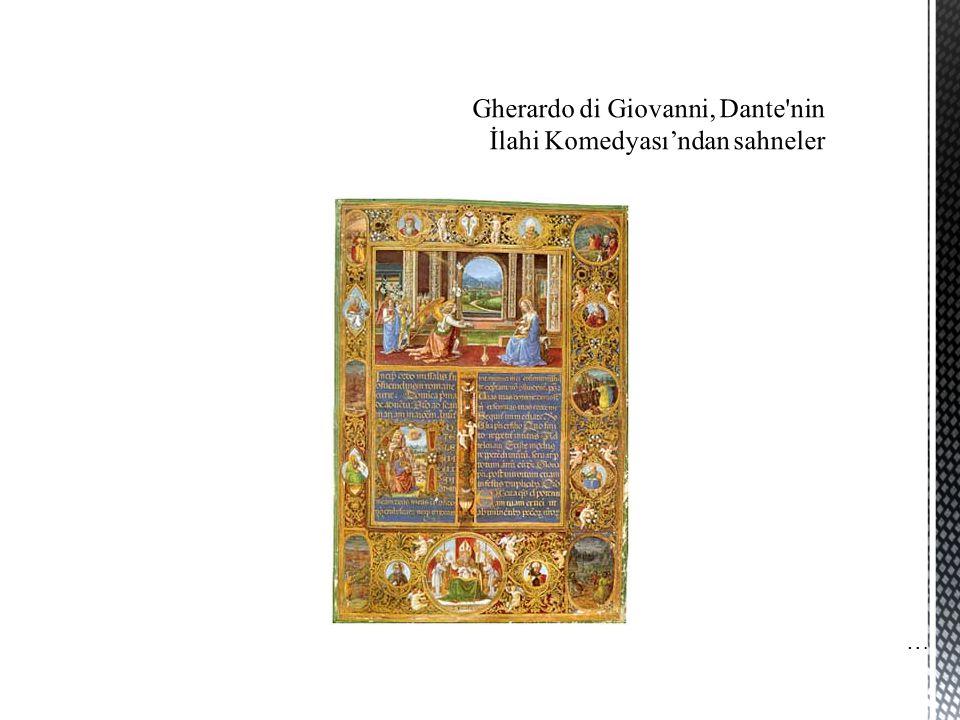 Gherardo di Giovanni, Dante nin İlahi Komedyası'ndan sahneler