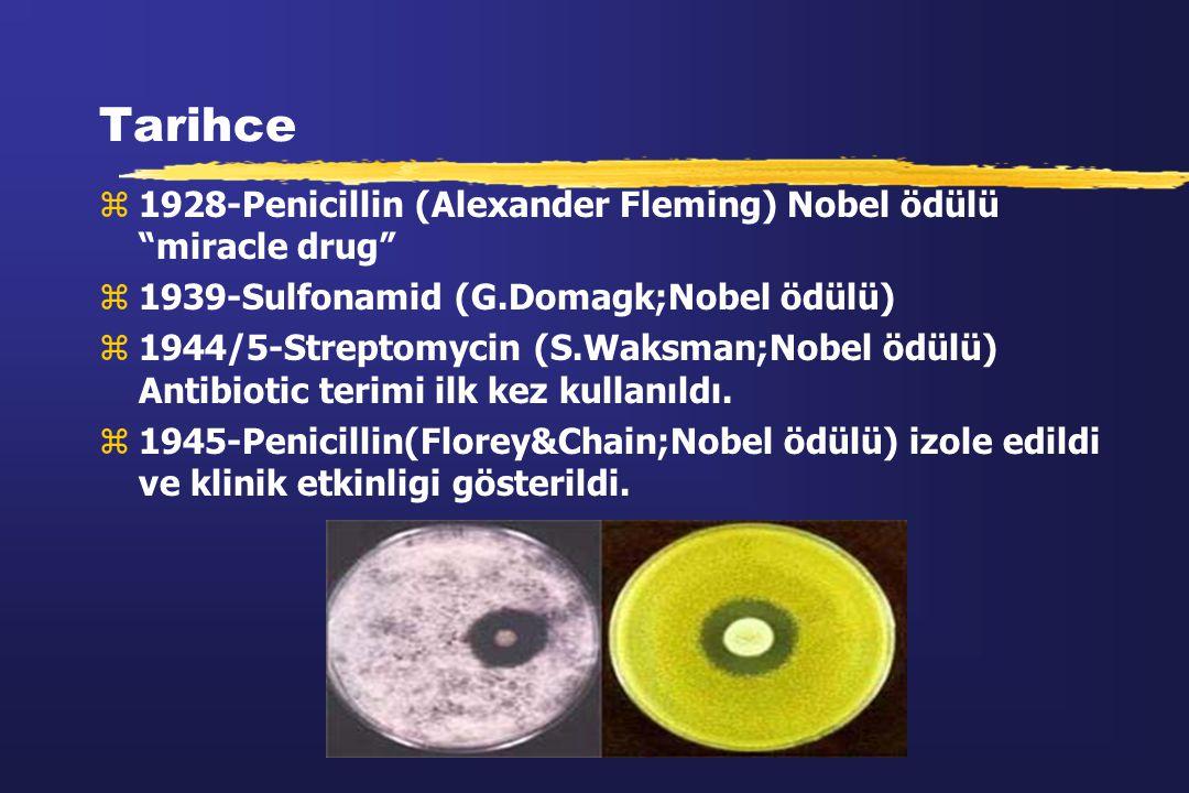 Tarihce 1928-Penicillin (Alexander Fleming) Nobel ödülü miracle drug