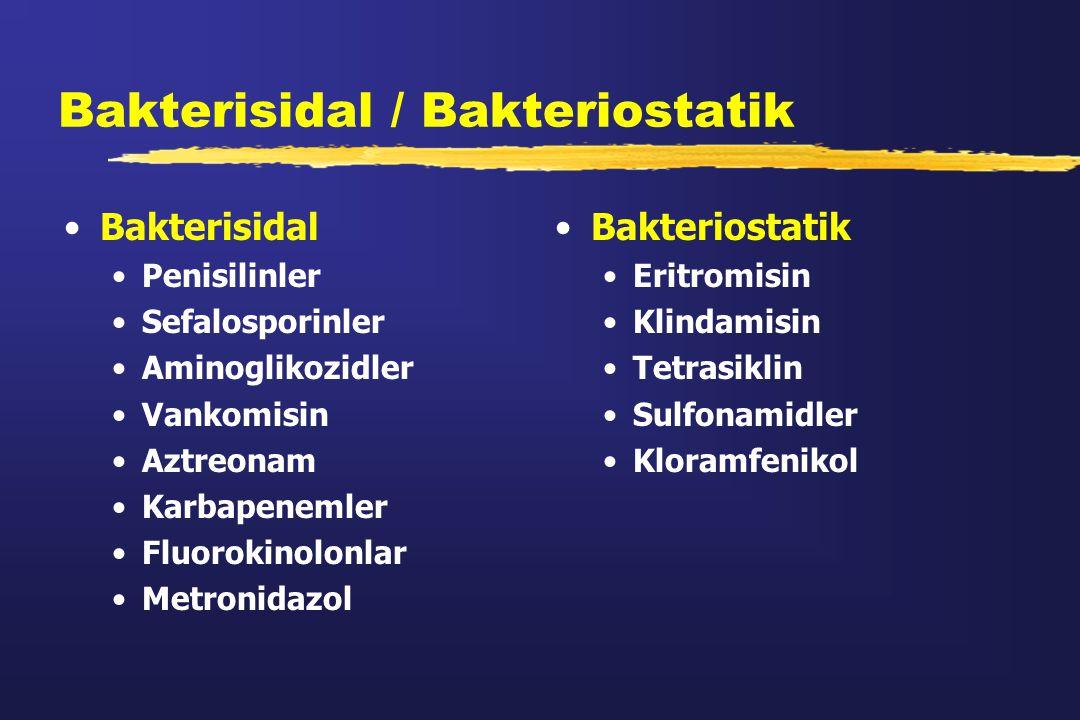 Bakterisidal / Bakteriostatik