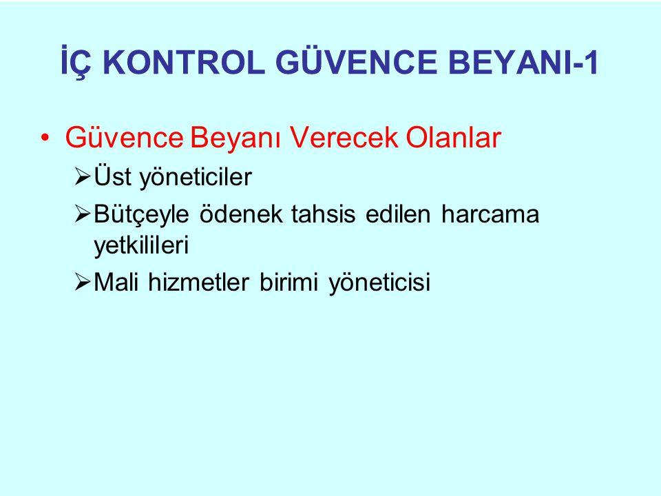 İÇ KONTROL GÜVENCE BEYANI-1