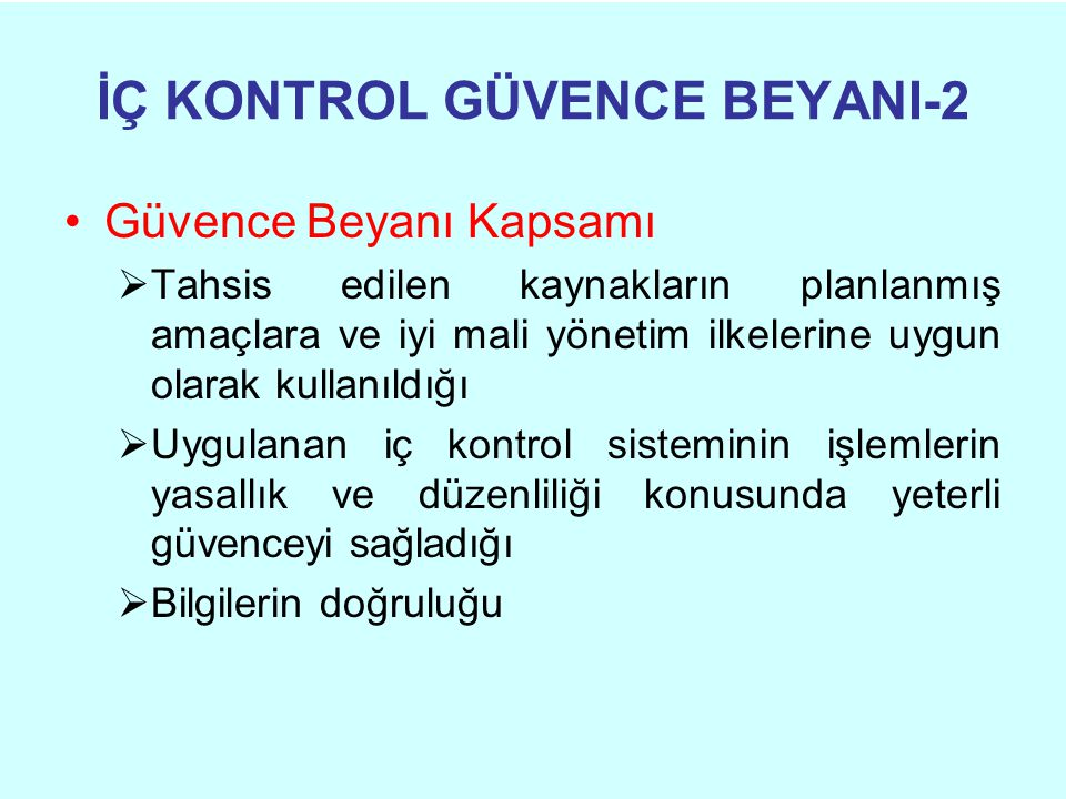 İÇ KONTROL GÜVENCE BEYANI-2