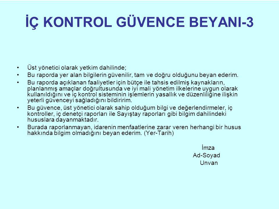 İÇ KONTROL GÜVENCE BEYANI-3