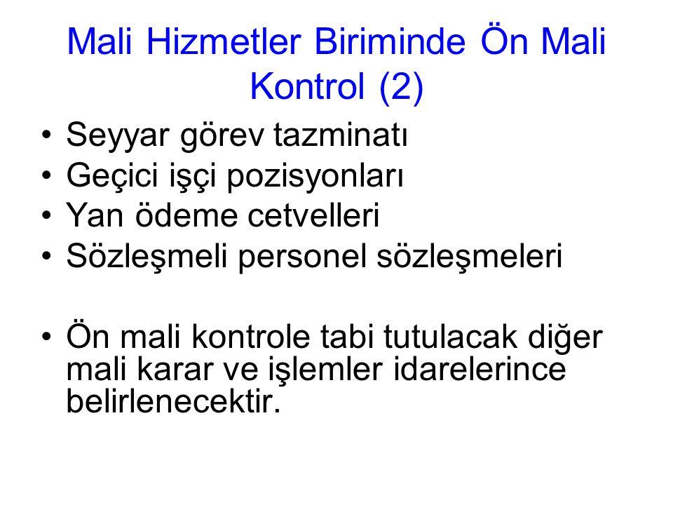 Mali Hizmetler Biriminde Ön Mali Kontrol (2)
