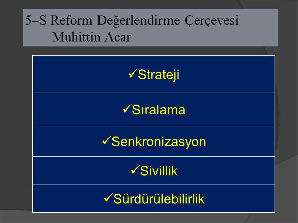 5–S Reform Değerlendirme Çerçevesi Muhittin Acar