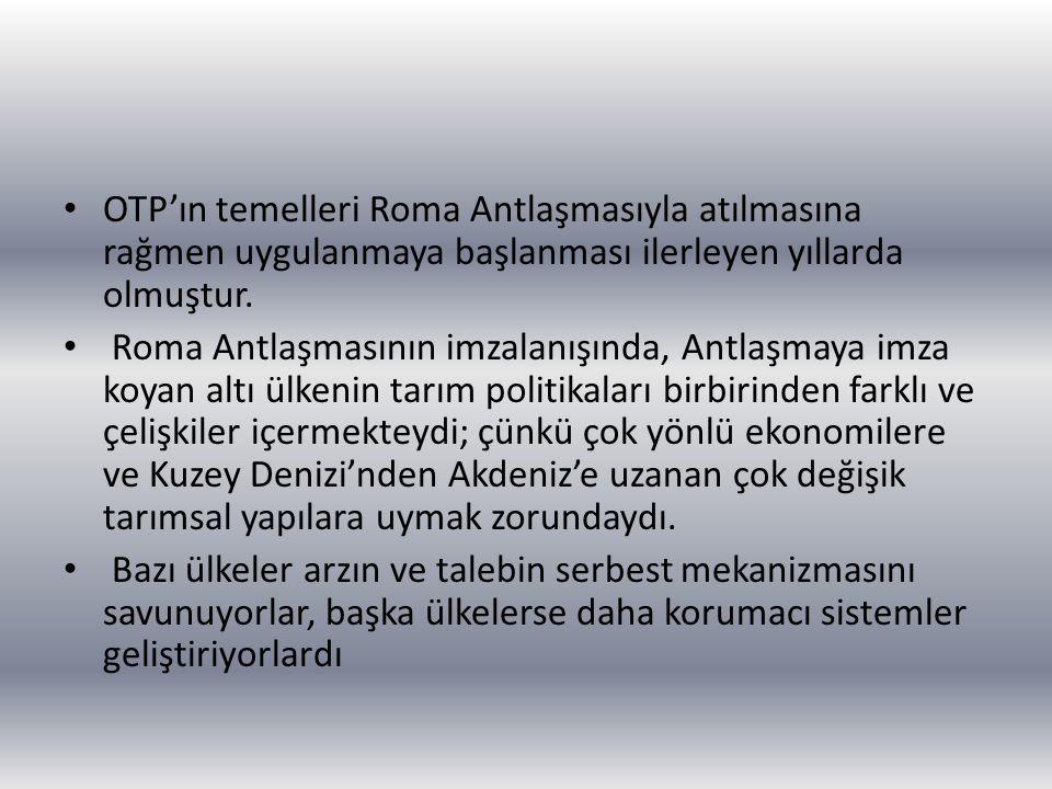 OTP'ın temelleri Roma Antlaşmasıyla atılmasına rağmen uygulanmaya başlanması ilerleyen yıllarda olmuştur.