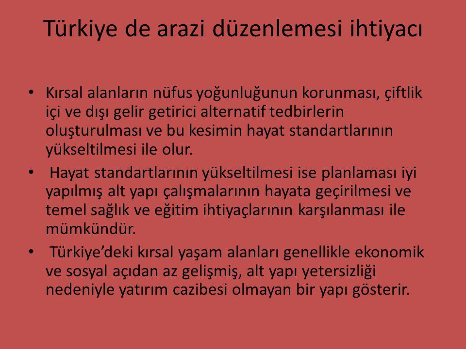 Türkiye de arazi düzenlemesi ihtiyacı