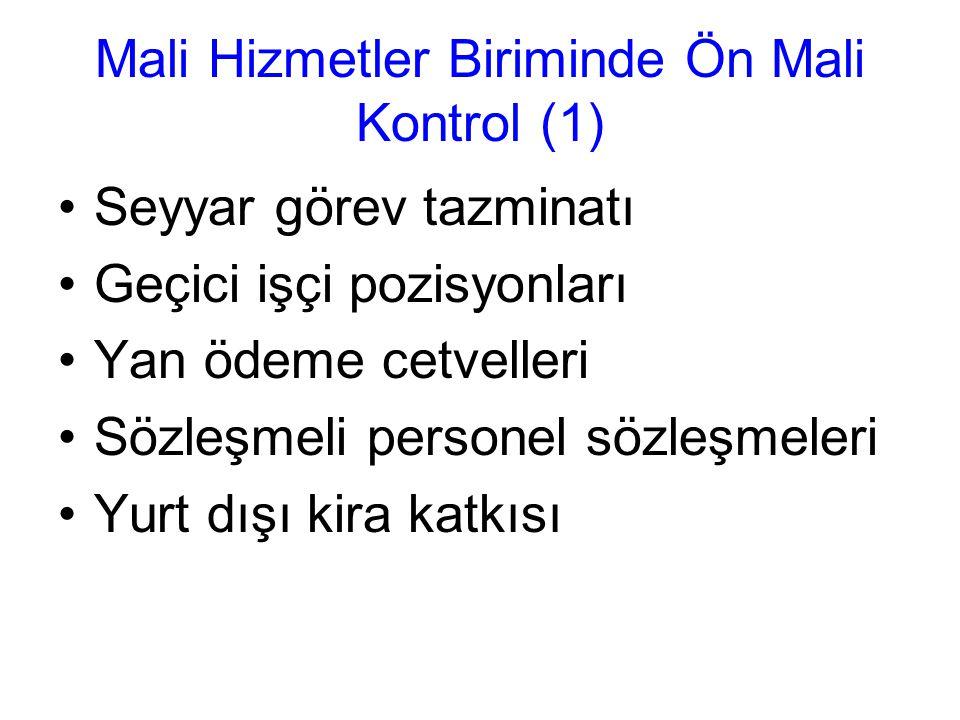 Mali Hizmetler Biriminde Ön Mali Kontrol (1)