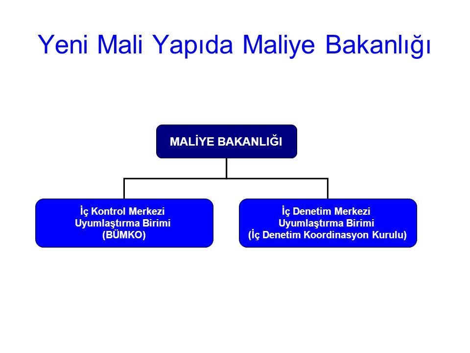 Yeni Mali Yapıda Maliye Bakanlığı