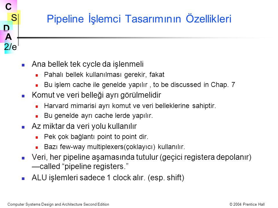 Pipeline İşlemci Tasarımının Özellikleri