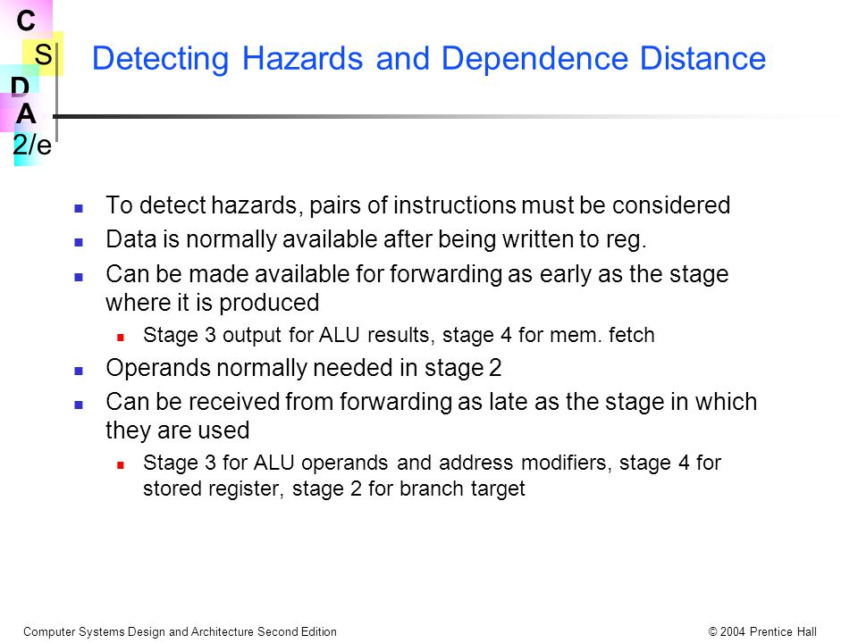 Detecting Hazards and Dependence Distance