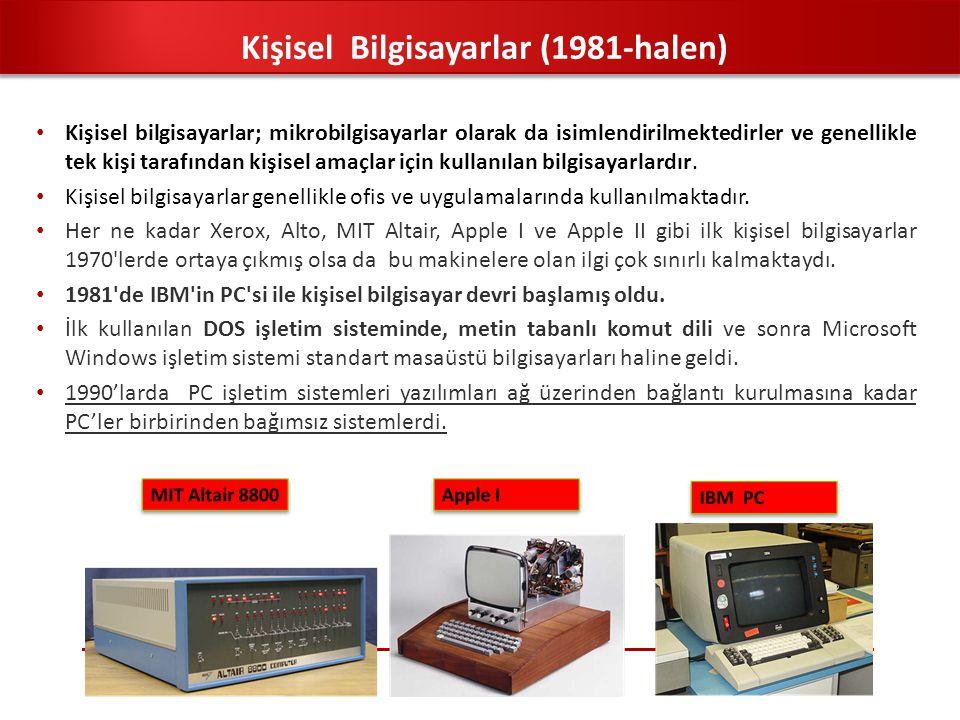 Kişisel Bilgisayarlar (1981-halen)