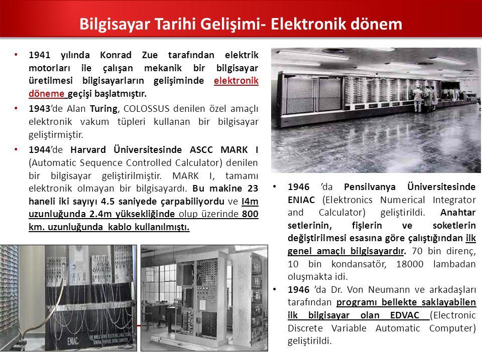 Bilgisayar Tarihi Gelişimi- Elektronik dönem