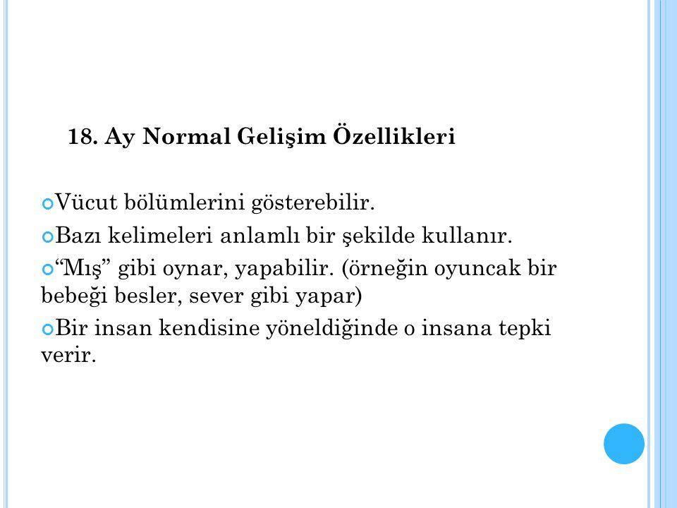 18. Ay Normal Gelişim Özellikleri
