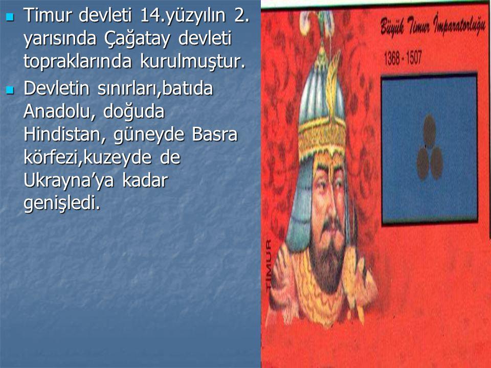 Timur devleti 14. yüzyılın 2