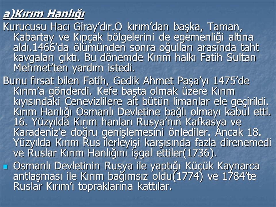 a)Kırım Hanlığı