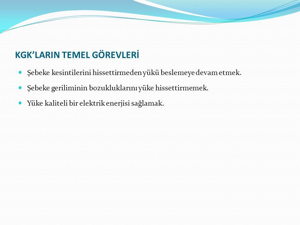 KGK'LARIN TEMel Görevlerİ