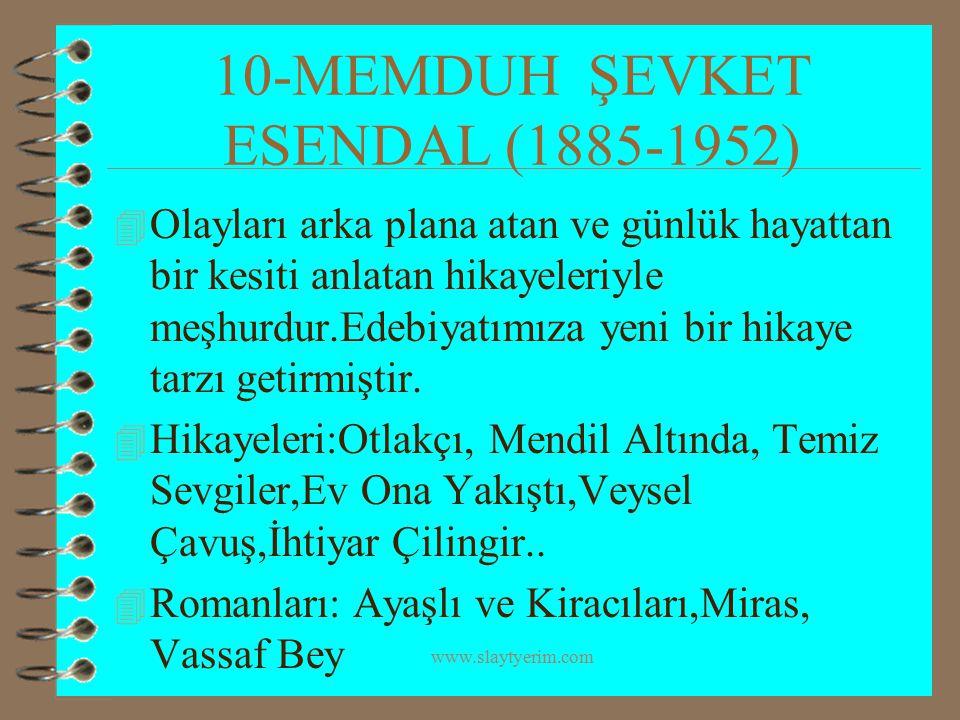 10-MEMDUH ŞEVKET ESENDAL (1885-1952)