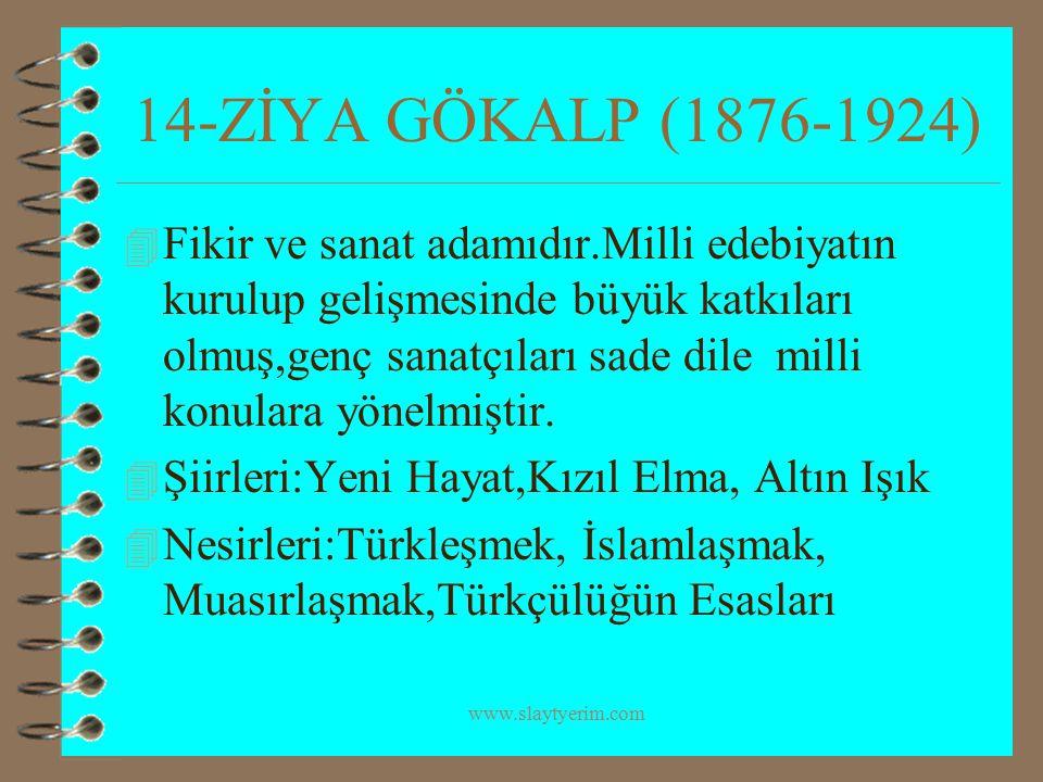 14-ZİYA GÖKALP (1876-1924)