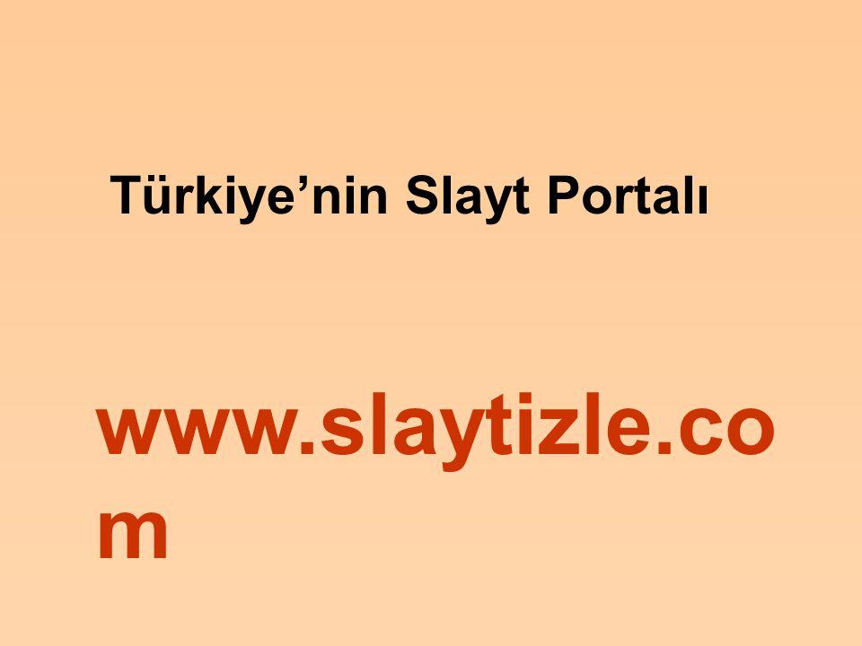 Türkiye'nin Slayt Portalı