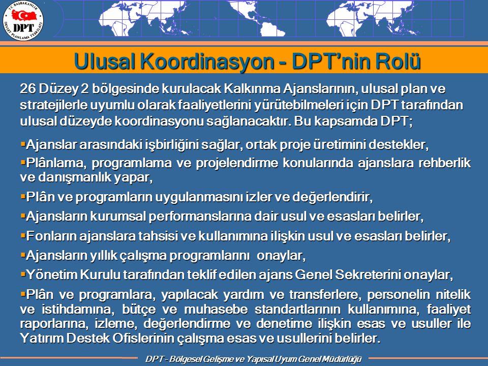 Ulusal Koordinasyon - DPT'nin Rolü