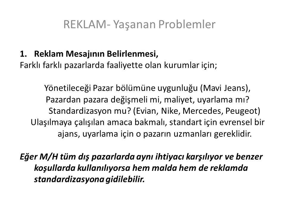 REKLAM- Yaşanan Problemler