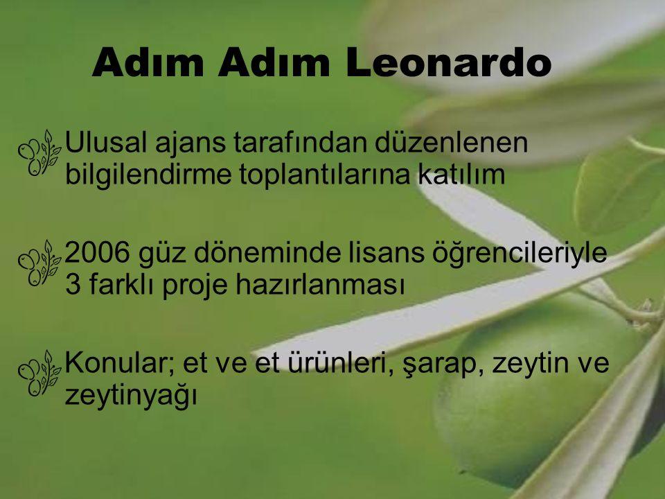 Adım Adım Leonardo Ulusal ajans tarafından düzenlenen bilgilendirme toplantılarına katılım.