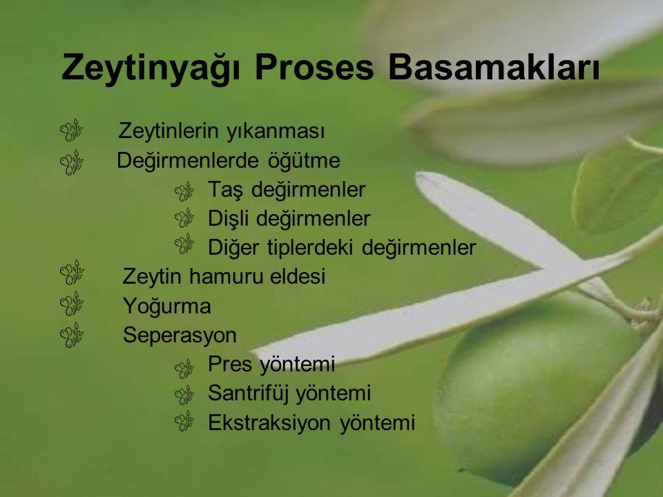 Zeytinyağı Proses Basamakları