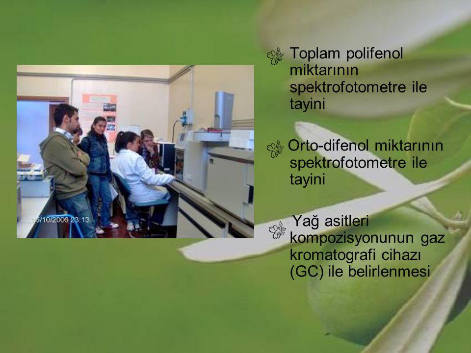 Orto-difenol miktarının spektrofotometre ile tayini