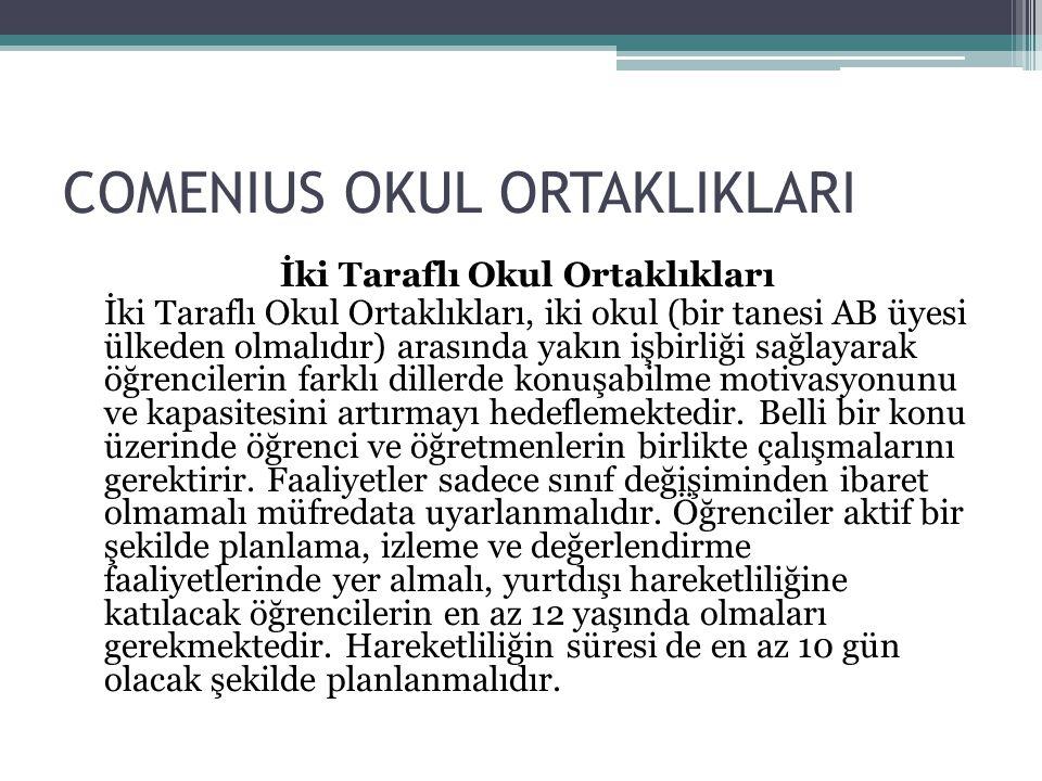 COMENIUS OKUL ORTAKLIKLARI