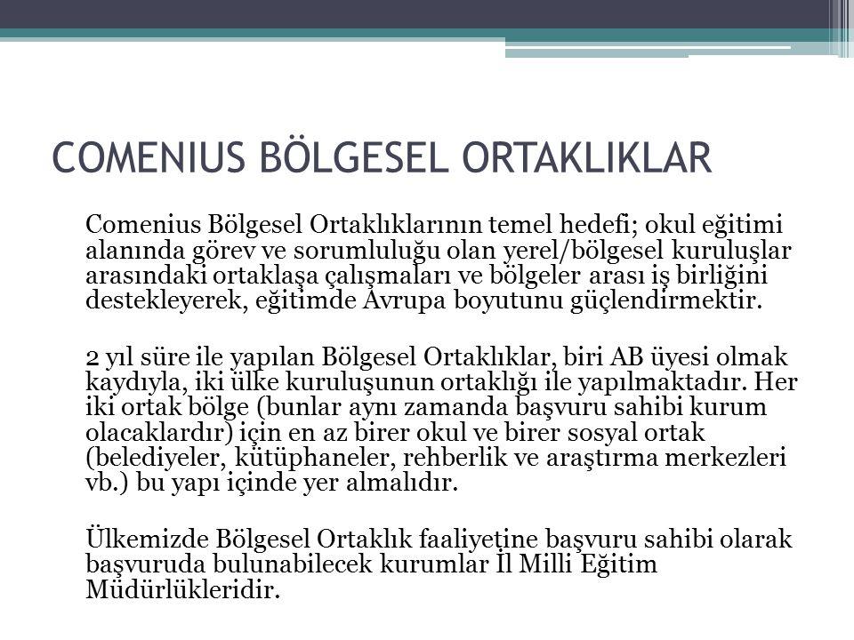 COMENIUS BÖLGESEL ORTAKLIKLAR