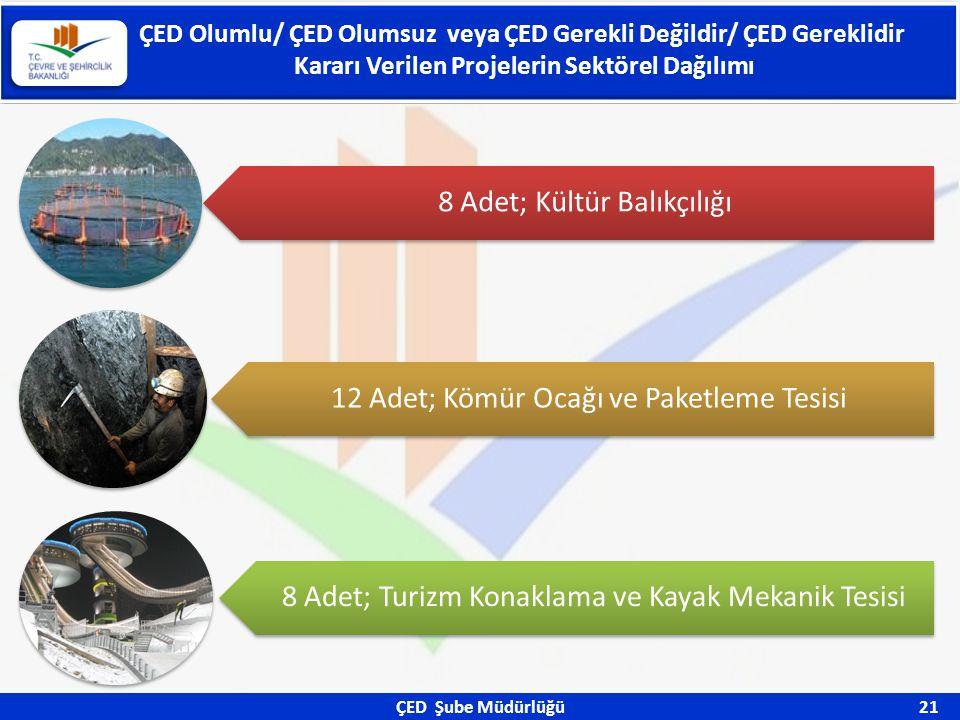 ÇED Olumlu/ ÇED Olumsuz veya ÇED Gerekli Değildir/ ÇED Gereklidir Kararı Verilen Projelerin Sektörel Dağılımı