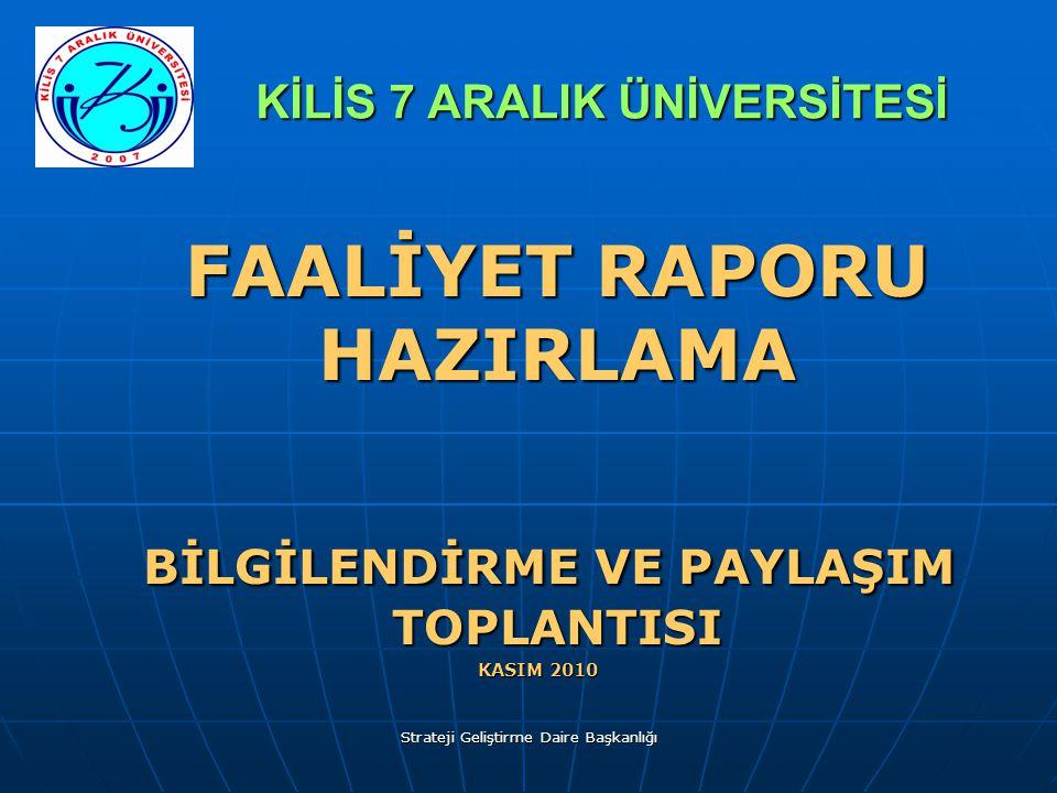 KİLİS 7 ARALIK ÜNİVERSİTESİ