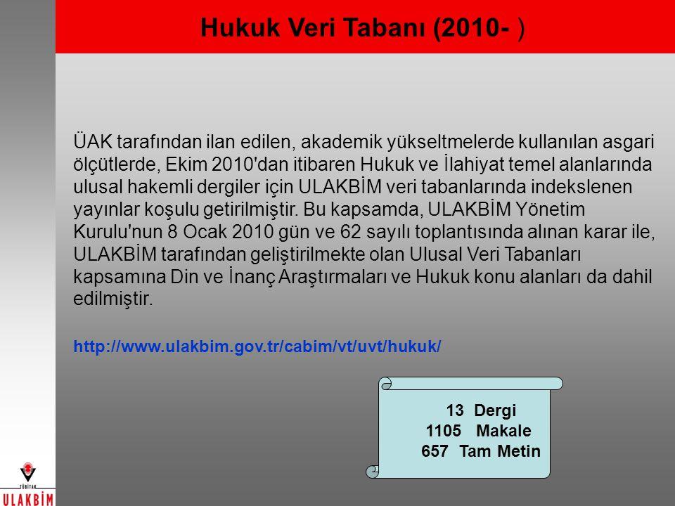 Hukuk Veri Tabanı (2010- )