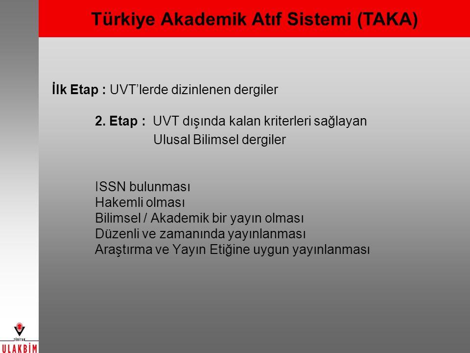Türkiye Akademik Atıf Sistemi (TAKA)
