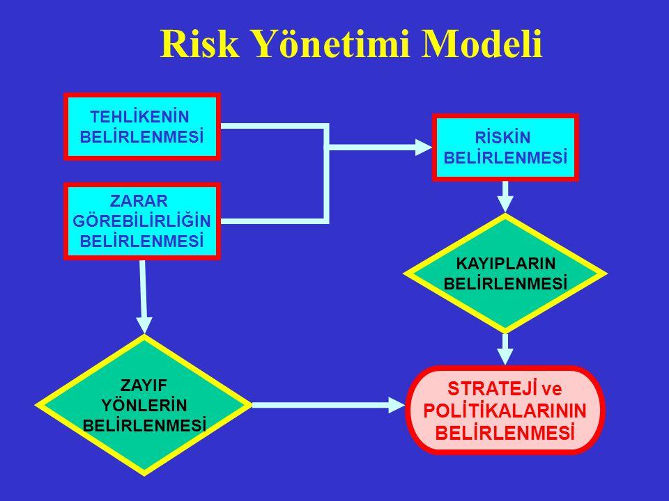 Risk Yönetimi Modeli STRATEJİ ve POLİTİKALARININ TEHLİKENİN RİSKİN